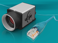 Small industrial camera with GigE interface and Power over Ethernet
