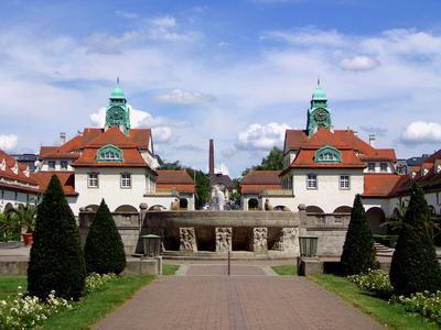 Die größte geschlossene Jugendstilanlage in Europa - Der Sprudelhof in Bad Nauheim