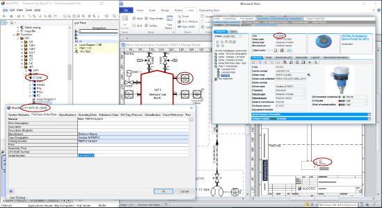 Direkt aus der Bearbeitung von jedem Engineering-Dokument ins W@M-Portal von Endress und Hauser (© AUCOTEC/Endress+Hauser)