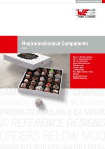Cover des neuen Katalogs elektromechanischer Bauteile, Bildquelle: Würth Elektronik eiSos