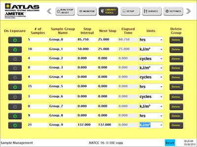 Atlas Introduces New Weather-Ometer® User Interface Software to Facilitate Easier Sample Tracking