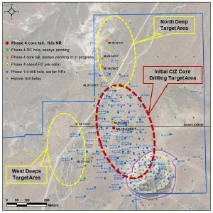 Location of ML19-123CT, pending holes and new holes to be drilled at Mother Lode Project, Nevada
