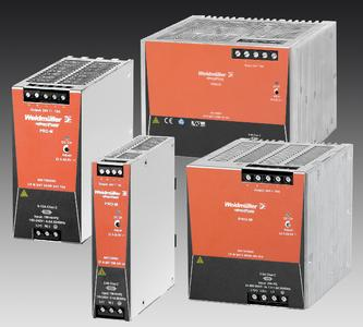 Weidmüller's switch-mode power supplies 'PRO-M': Single- and three-phase switch-mode power supplies for space-saving solutions in automation engineering applications