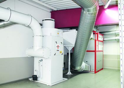 Das Konzept  kombiniert den leistungsstarken Emulsionsnebelabscheider ENA mit ProTERM, dem thermischen Energie-Rückgewinnungs-Modul zur Wärmerückgewinnung