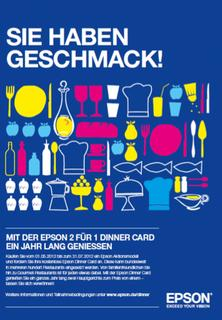 "Promotion: ""Dinner for Two"" mit der Epson Dinner Card"