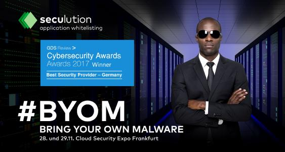 SecuLution ausgezeichnet als bester Security Provider | AKTION: Bring your own Malware – Cloud Security Expo, Frankfurt
