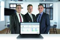 Die Geschäftsführer des Softwareherstellers TecArt GmbH Christian Fischer, Christian Friebel und Thomas Fischer (v.li.) entscheiden sich für eine kombinierte CRM- und ERP-Lösung