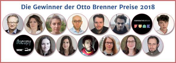 Gewinner der Otto Brenner Preise 2018