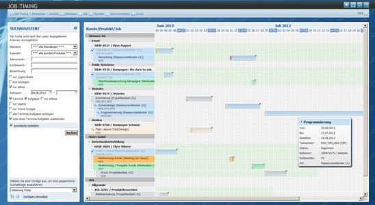Multiprojektmanagement mit der Agentursoftware easyJOB