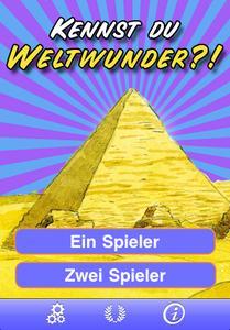 Kennst du Weltwunder? - Startscreen