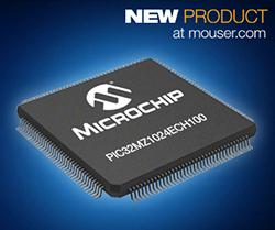 Microchip PIC32MZ Microcontroller in Stock at Mouser is One Fast Number Cruncher