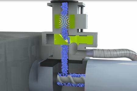 PROTECTOR 40 PRIMUS+ Systeme zur direkten Installation über dem Materialeinlauf der Spritzgießmaschinen als Last-Chance Kontrolle.