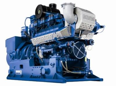 High efficiency and 500 kWel output: MWM genset TCG 2016C V12 (factory photograph)