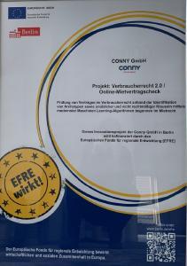 Pro FIT IBB Fördermittel für LegalTech-Startup CONNY zur Stärkung von Mieterrechten