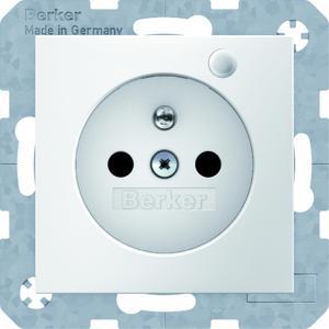 Lebenswichtig in Krankenhäusern: Steckdosen SCHUKO und Steckdosen mit Schutzkontaktstift (Abb.) von Berker sind jetzt mit einer langlebigen grünen LED ausgestattet.