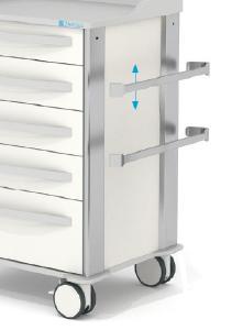 Werkzeuglos montierbare Normschiene am Lean AluCart