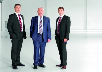 Initiatoren der Standortinitiative und Geschäftsführer der SKS Welding Systems GmbH: Thomas, Dieter und Markus Klein (v.l.n.r.)