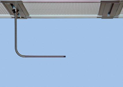 20.415 flow sensors in straight or angled design for individual installation options. Ceiling mounting below a laminar flow unit