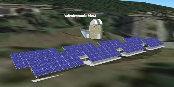 Planung und Bau der ersten energieautarken Volks- und Schulsternwarte Europas