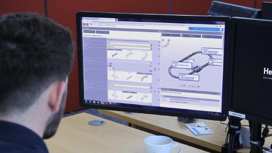 HepcoMotion: Neuer CAD-Design Konfigurator für das PRT2 Schienenführungssystem