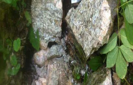Spodumen in Pegmatit; Foto: Nova Minerals