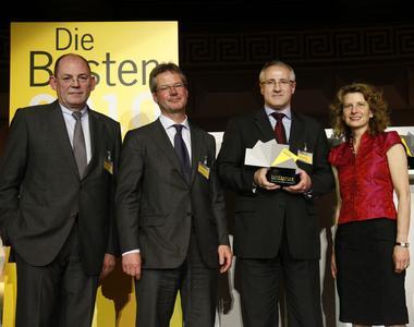 Karl-Heinz Bonny, Landwirtschaftsverlag (Jurymitglied); Stefan Rühling, Vorsitzender der Geschäftsführung Vogel Business Media; Gerd Kielburger, Redaktionsdirektor/Publisher PROCESS; Dr. Eva E. Wille, Wiley-VCH Verlag (Jurymitglied)