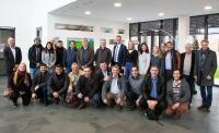 Eine brasilianische Delegation von Genossenschaftsspezialisten besuchte zusammen mit Vertretern vom Deutschen Genossenschafts- und Raiffeisenverband e.V.   den Hauptsitz der GWS Gesellschaft für Warenwirtschafts-Systeme mbH in Münster.  Foto: GWS Gesellschaft für Warenwirtschafts-Systeme mbH