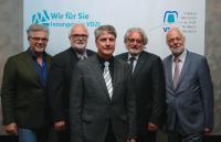 Der neu gewählte Vorstand des VDZI: v.l.  Thomas Breitenbach, Vizepräsident Klaus Bartsch, Präsident Dominik Kruchen, Rainer Struck und Heinrich Wenzel