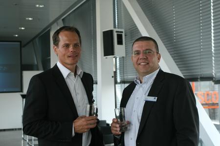 Geschäftsführer A. Bechtold und CEO David Martinez von Infinigate