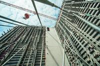 Efficient concrete formwork for climbers