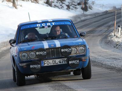 Der erfolgreiche Fiat 124 Coupé von Heiko Dlugos und Beifahrer Marc Dennerlein (Foto: © hl-studios, Erlangen)