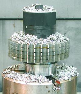 Kraftspannmutter MCA zur Klemmung von Kettenrädern bei der Fräsbearbeitung