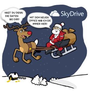"""Weihnachtsmann als """"Mobile Worker"""""""