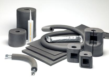 Perfect insulation for complex line and piping systems: ContiTech has enhanced the Conti® Thermo-Protect insulation system. The highly flexible, malleable silicone material now self-vulcanizes at temperatures as low as 80°C. It is available as a sheet, paste, hose, and molded product (Photo: ContiTech)