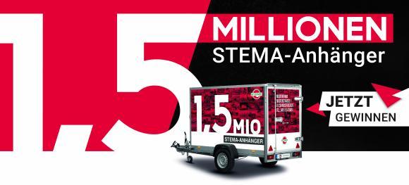 STEMA 1,5 Mio. Anhänger Banner