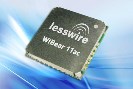 Ultra-compact multifunctional wireless module supports WLAN standard 802.11ac and Bluetooth 4.0