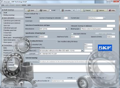 eAssistant Calculation Module for Rolling Bearings with SKF Data
