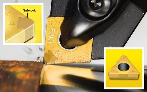 Die Sorten CN7015 und CB7025 sind nun mit Geometrien erhältlich, die durch eine gesteigerte Fasenbreite (0,15 und 0,2 mm) und einen längeren Fasenwinkel (30 und 35°) für eine höhere Leistungsfähigkeit bei unterbrochenen Schnitten sorgen