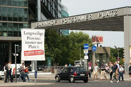 Werbung der Region Heilbronn-Franken auf dem Potsdamer Platz