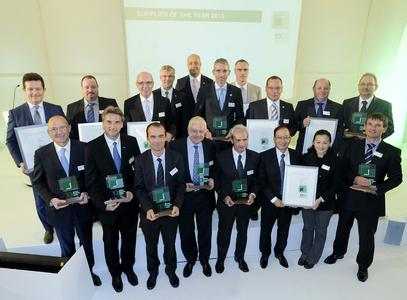 The winners of the MANN+HUMMEL Global Supplier Award 2013