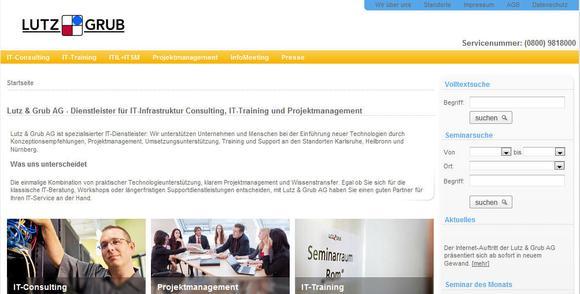 Screenshot NeueWebseite