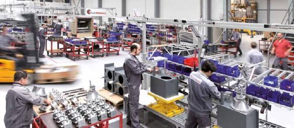 Produktion bei Fluitronics in Krefeld