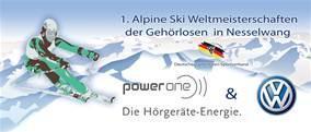 Logo der 1. Alpine Ski Weltmeisterschaften der Gehörlosen in Nesselwang