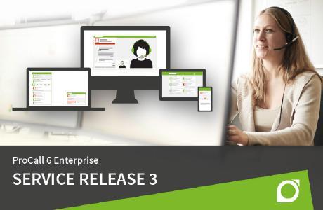 Mit dem Service Release 3 von ProCall 6 Enterprise hat estos die Softphone Funktionen und die Smartphone-App verbessert