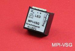 Vorschaltgeräte für sichere Verbindungen von beleuchteten Tastern und Indikatoren