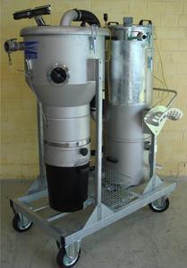 Hobbock-Druckluftsauger mit Scheibenwischer