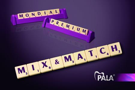 Mit dem neuen Kombinationsprinzip PALA Mix&Match können Zahntechniker ab sofort die bewährten Zahnlinien Premium und Mondial, sowie die neue Zahnlinie Mondial 6E von Heraeus frei kombinieren