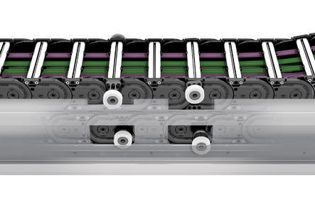 Roller Supported Chains von TSBUAKI KABELSCHLEPP sind eine optimale Lösung für hohe Zusatzlasten und lange Verfahrwege