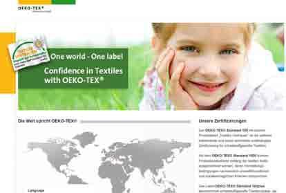 Die neue OEKO-TEX®-Website unter www.oeko-tex.com: auf ansprechende Weise informativ