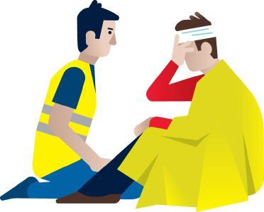 Ersthelfer sind ein wichtiges Glied in der Rettungskette / Illustration: wdv/E. Nohel